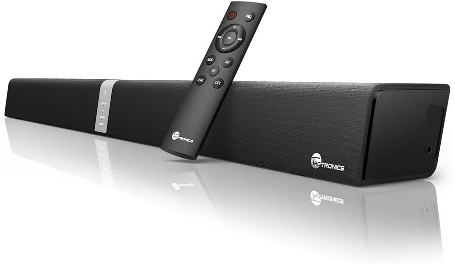 2.1 Channel Bluetooth Sound Bar Wohome TV Soundbar with Built-in Subwoofer