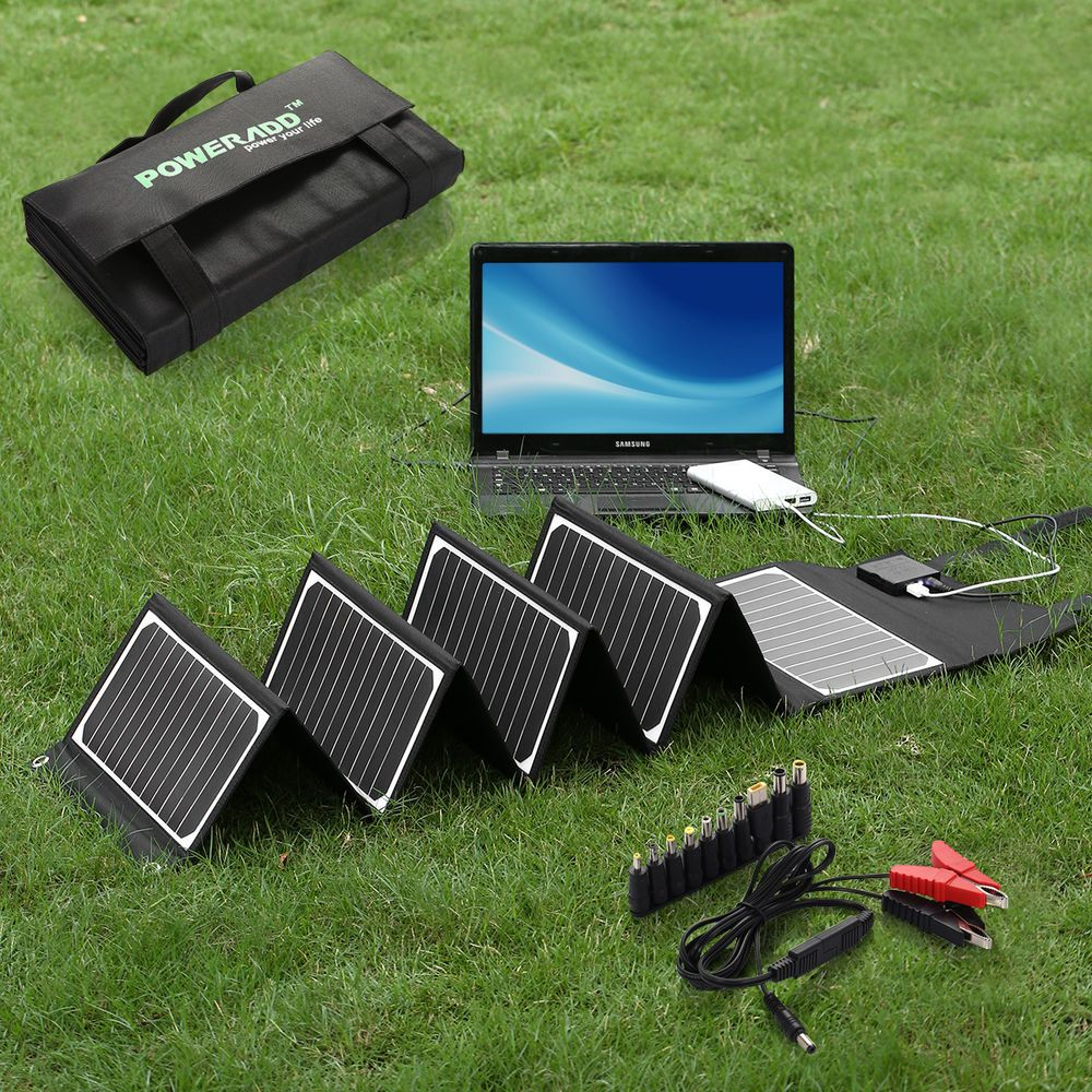 Charging a laptop battery using solar energy