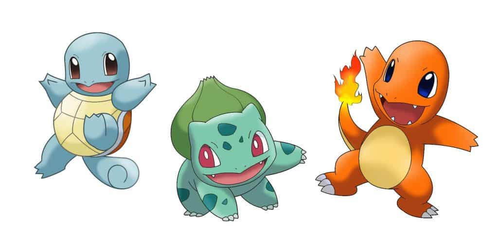 Generation 1 Pokemon Starters