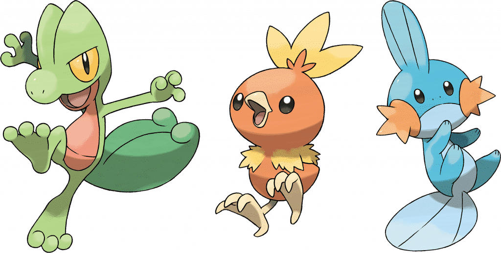 Generation 3 Pokemon Starter
