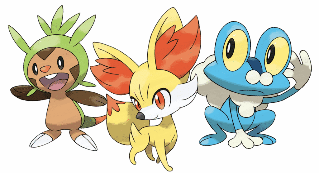 Generation 6 Pokemon Starter