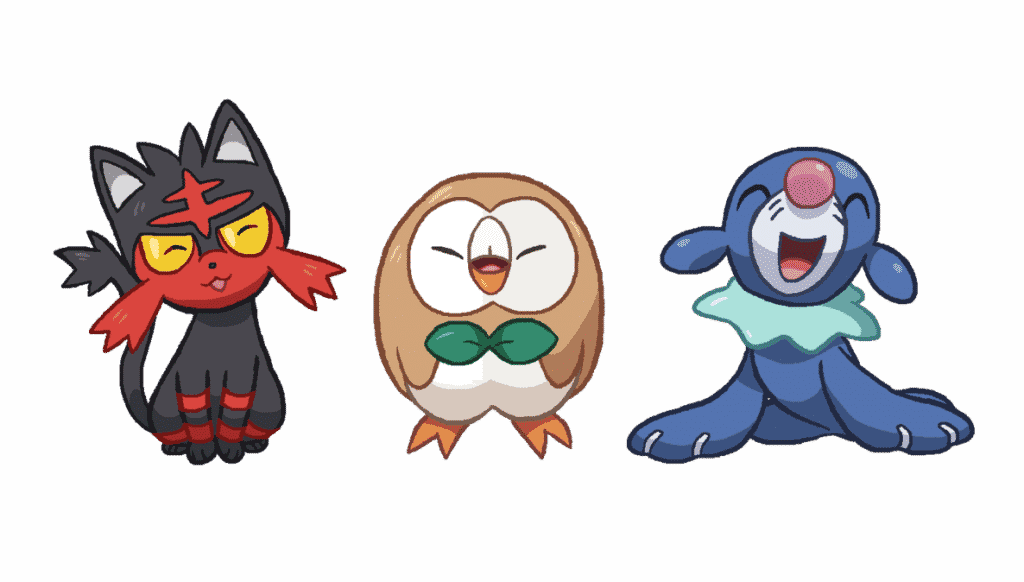 Generation 7 Pokemon Starter
