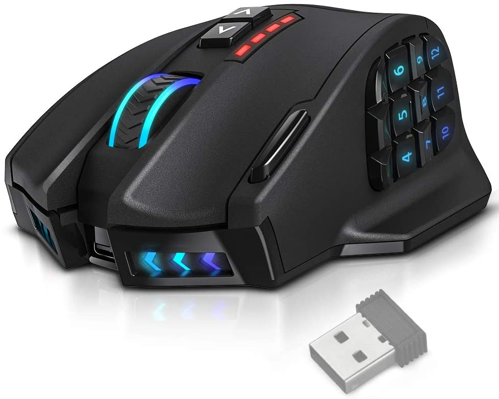 UtechSmart Venus Pro RGB Wireless MMO Gaming Mouse
