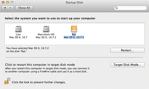 Mac Disk Utilities Select the cloned external drive