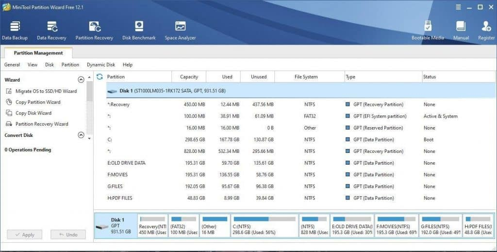 Mini Tool Partition Wizard Free Edition