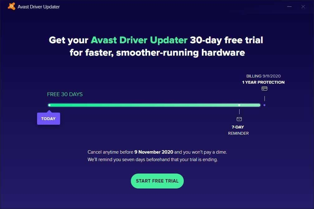 Avast Driver Updater Free Trial