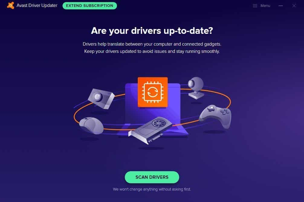Avast Driver Updater Interface