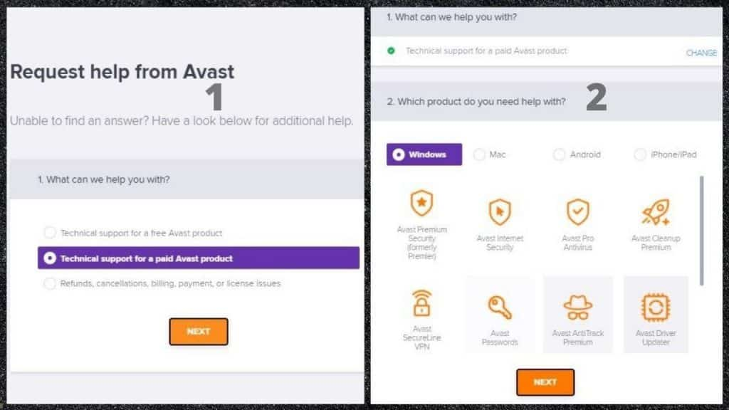 Avast Support Services