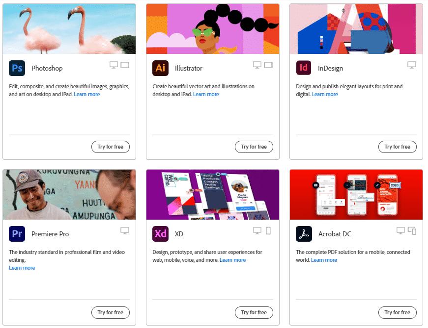 Creativity Cloud All Apps
